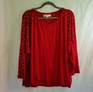 Michael by Michael Kors Plus Size Embellished Top